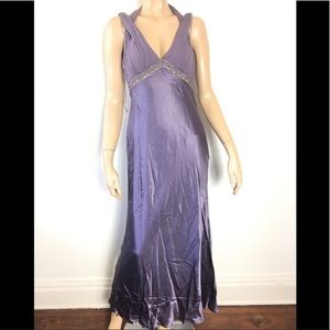 Adrianna Papell Boutique Purple beaded Gown 6
